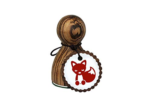 orig. Stemplino® Maxistempel Stempel L - Freddy Fuchs - hochwertiger Holzstempel Motivstempel Holz Füchslein Fox Füchschen Waldtiere