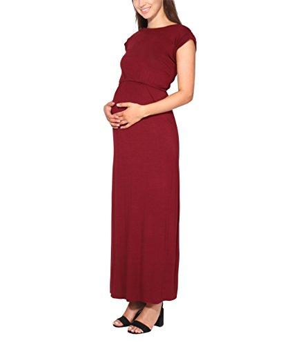KRISP Vestido Mujer Tallas Grandes Largo Barato Casual Ibicenco De Día Ropa Hippie Online Ofertas, (Burdeos (3269), 48 EU (20 UK)), 3269-WIN-20