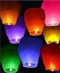 12 Pièces. Sky Lantern – Lanterne volante carrée – Lanterne volante ballon pour mariage – Couleurs mixtes