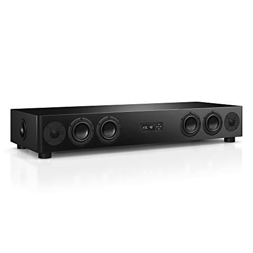 Nubert nuPro AS-450 Soundbar | TV-Lautsprecher für HiFi & Musikgenuss | Soundbase für klare Stimmen | Soundplate mit 3.5 Wege Technik | aktive Stereobase für Spitzenklang | Sounddeck Schwarz