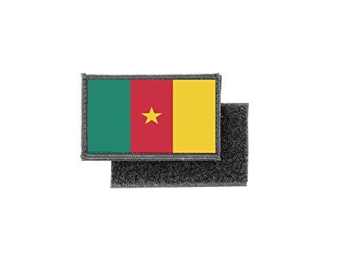 Aufnäher patch aufbügler gedruckt flagge fahne kamerun