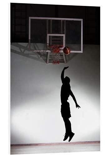 Silhouette eines Basketballspielers Poster Kein Frame Board für Büro-Dekor, bestes Geschenk für Familie und Ihre Freunde 11,7 * 16,5 Zoll