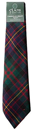 I Luv Ltd Cameron of Erracht Modern Clan 100% Wool Scottish Tartan Tie