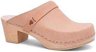 Sandgrens Swedish High Heel Wooden Clog Mules for Women | Dublin