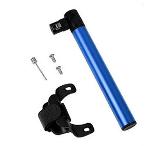 EPOWAD 1 mini portátil multifuncional de aleación de aluminio de 120 Psi con grifos americanos y franceses adecuados para grifos americanos y franceses accesorios de bicicleta (color: azul)