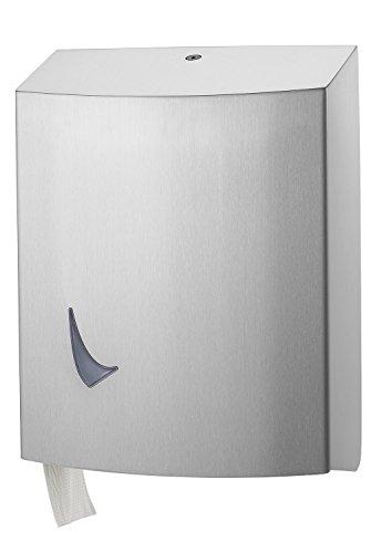 Toilettenpapierspender 3 Rollen abschließbar, Edelstahl gebürstet matt, zur Wandmontage, Karusell WC-Papierspender