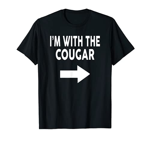 I'm With The COUGAR Halloween Cougar Shirts COUGAR T-Shirt