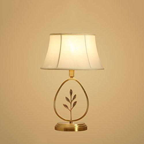 HLQW Lámpara de Cobre Llena Cálida Sala de Estar Dormitorio Estudio Atmósfera y Personalidad Creativa de la lámpara de cabecera Minimalista Moderna lámpara (Color : D)