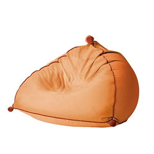 HUGUJ Tela de Lona Engrosada Puf Moderno Sofá Tatami Mini sofá Desmontable y Lavable (Color : Orange)