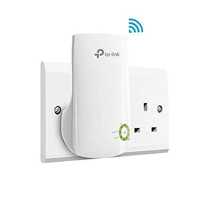 TP-Link N300 Universal Wi-Fi Range Extender, Broadband/Wi-Fi Extender, Wi-Fi Booster, Plug and Play, WPS, UK Plug (TL-WA854RE)