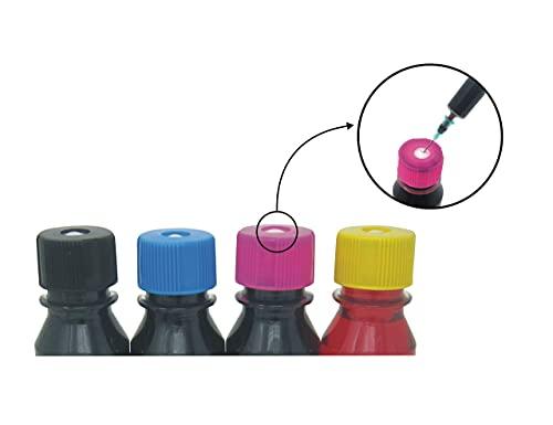 refill24 Kit de Recarga para Cartuchos de Tinta Canon PG-560, PG-560XL, CLI-561, CLI-561XL Negro y Color. Incluye Accesorios + 400 ML de Tinta