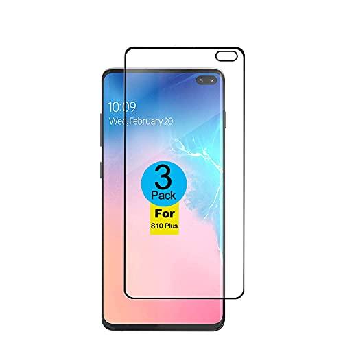 AMNIE [3 Stück Panzerglas Schutzfolie für Samsung Galaxy S10+ / S10 Plus, [Kratzresistent] [Fingerabdruckresistent] [Ultradünn] Flexible Schutzfolie für das Samsung Galaxy S10+ / S10 Plus