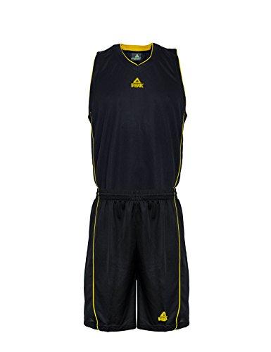 Peak Sport Europe Basketball Team Uniform Set Trikot und Shorts, Black/Yellow, XXXL