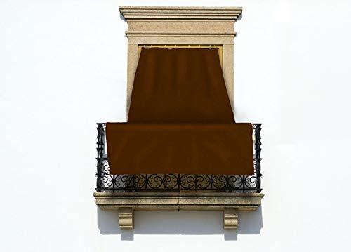 COINGROSTEX Tende da Sole per Esterno con Anelli, Misura: 145x250cm, in Tinta Unita Colore Marrone