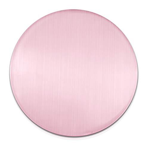 Amello Coins rosa 30 mm Einleger Cateye Edelstein Glas Katzenauge Damen D3ESC707A