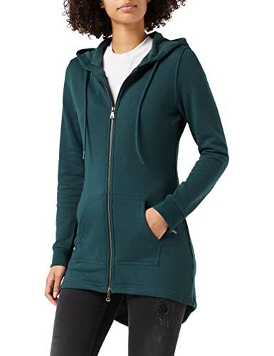 Urban Classics Damska bluza z kapturem, Sweat Parka z zamkiem błyskawicznym, dostępna w 8 kolorach, rozmiary od XS do 5XL, zielony (Bottle Green 02245), 3XL