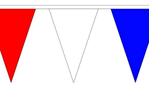 Rouge, Blanc et Bleu Triangle Banderole Drapeaux de 20 m (54)