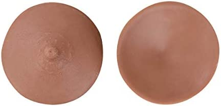 iixpin 1 Pair Self Suction Nipples Realistic Silicone Fake Areola Nipples Reusable Attachable Nipple Covers for Breast Forms Cosplay Crossdressers