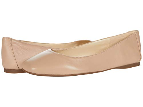 NINE WEST Women's WNALENA Ballet Flat, Natural, 8.5