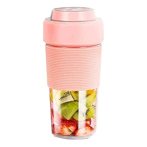 CDPC Waterproof Portable Blender, 300ml Mini Mixer, USB Rechargeable Small Smoothie Blender Fruit Juicer, for Shakes, Smoothies, Home, Travel & Gym