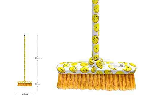 New Idea Besen in Weiß mit Emoji 28 x 129 cm, 28 x 129 cm
