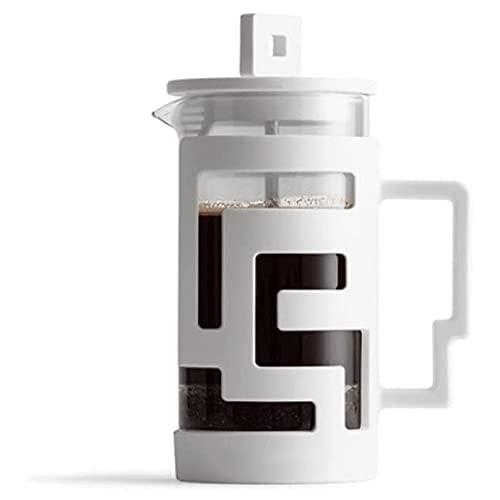 XIXIDIAN Cafetera  Jarra de Vidrio y Filtro de Malla de Acero Inoxidable  Espresso de Vidrio Resistente al Calor y Fabricante de té 350 ml (Color : White)