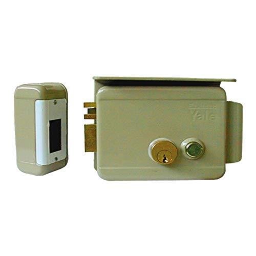 Cerradura eléctrica de sobreponer para puertas Art. 688con pestillo azionabile retraído externo...