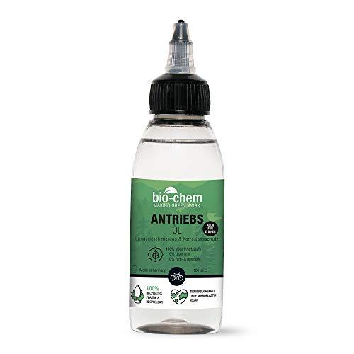 bio-chem Fahrrad-Kettenöl Antriebsöl – 100 ml Tropfflasche - biologische Premium-Qualität - Wellness für Fahrradketten aller Fahrräder, auch E-Bikes – Verringert Reibung, Verschleiß & Rostbildung