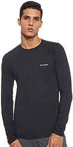 Columbia Midweight Stretch C Camiseta Térmica de Manga Larga, Hombre, Negro, M