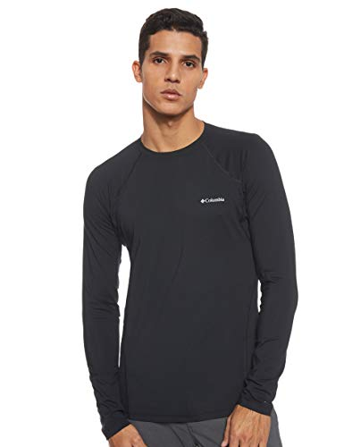 Columbia Midweight Stretch C Camiseta Térmica de Manga Larga, Hombre, Negro, L