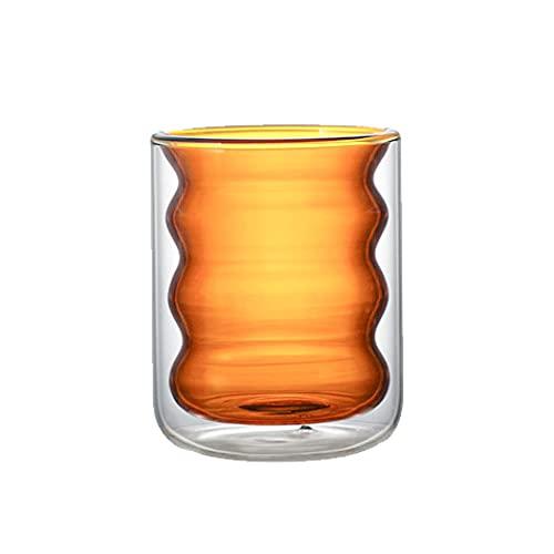 XDYNJYNL Vidrio vintage, leche ecológica taza de café taza de café taza de café espresso fino tumblers de beber pared de doble pared de vidrio ideal para tomar un latte bebidas mezcladas batido de bat