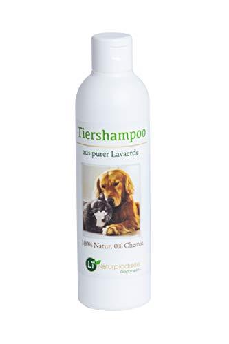 Bio-Tiershampoo vegan ohne Seife/chemische Zusätze hypoallergen Anti Schuppen/Juckreiz. Mit original marokkanischer Lavaerde 250ml Hundeshampoo Katzenshampoo weiches glänzendes Fell Langhaar Kurzhaar