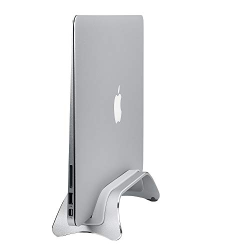 AVLT Aluminum Space-Saving Vertical Laptop Stand - Laptop Desk Stand - Compatible with Apple MacBook Pro 2015 & Newer Notebooks, Ultrabook Docking Station for Up to 0.39 Inch Thick (Tapered End)