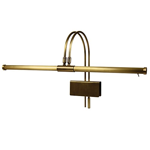 Cocoweb GPLED22ABD LED Grand Piano Lamp, Antique Brass