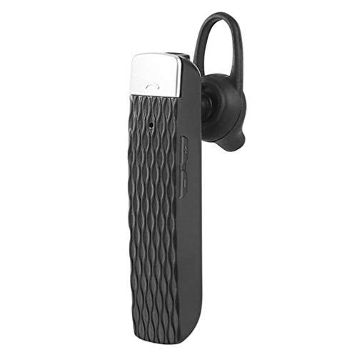 HLKJ Voice Translator Gerät, 33 Sprachen Drahtlose Echtzeit-Übersetzung Kopfhörer, in Das Ohr Smart-Headset Meeting Übersetzer Geräte,Schwarz