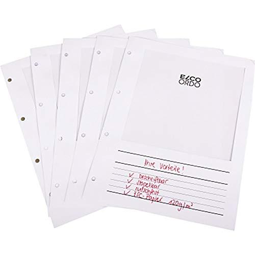 Elco Ordo Vista Karton mit 100 Ordo Mappen zum Abheften im Ordner220x310120gweiss