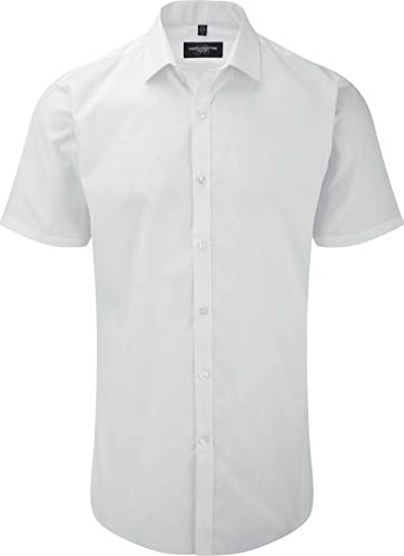 Russell Collection - Chemise Homme Stetch Manches Courtes Russel