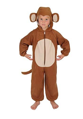 Affe Kinder Kostüm 122 - 128 für Fasching Karneval Rummelpott Kinderkostüm