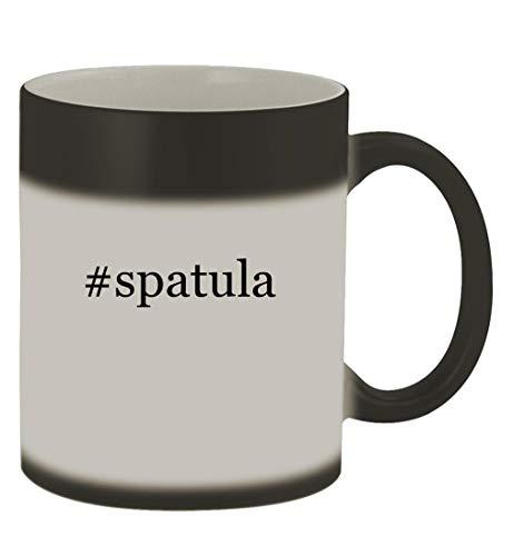 #spatula - 11oz Hashtag Magic Color Changing Mug, Matte Black