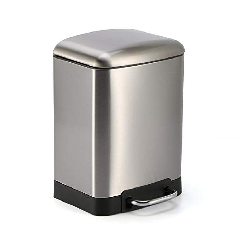 鳴らす時楽しむペダルビン ステンレス ゴミ箱 プダストボックス 6-12L ペダル式 ステンレス ごみ箱 キッチン リビング (銀12L)