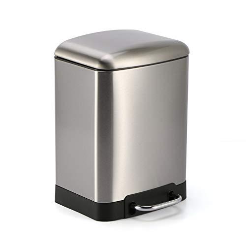 ペダルビン ステンレス ゴミ箱 プダストボックス 6-12L ペダル式 ステンレス ごみ箱 キッチン リビング (銀12L)