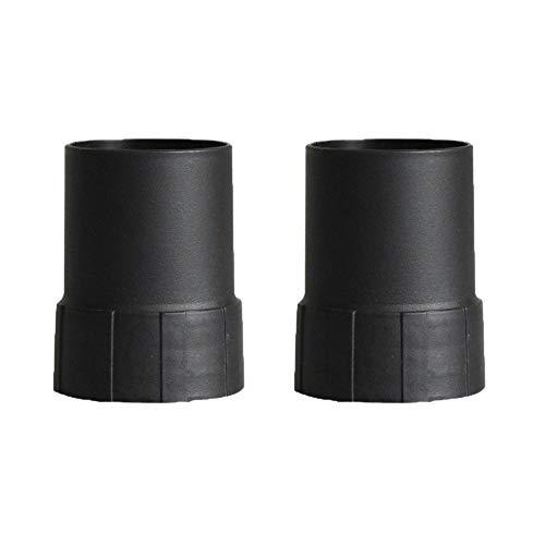 Uniquk Conector de Manguera de Aspiradora Industrial de 2 Piezas Adaptador de Manguera de ConexióN de 53/58 Mm y Host para Manguera de Rosca Piezas de Aspiradora de 50 Mm / 58 Mm