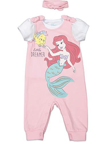 Disney Princess Ariel Belle Cinderalla Romper & Headband Set - - 24 Months