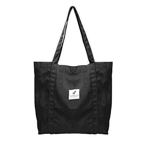 ZhengYue sac à bandoulière en toile femmes, sac à bandoulière grand sac en toile fourre-tout décontracté sac à main en tissu de mode pour tous les jours, bureau, voyage scolaire et shopping jaune