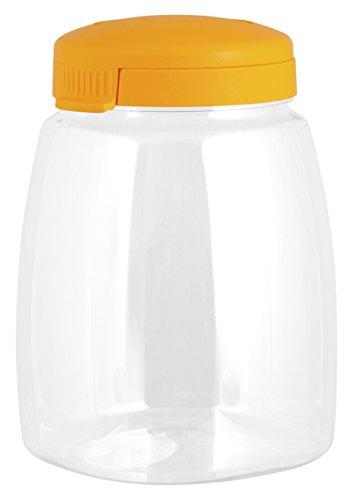 HABI Boîte à Biscuits avec Couvercle, Couleurs Assorties, 2,8 litres, Transparent