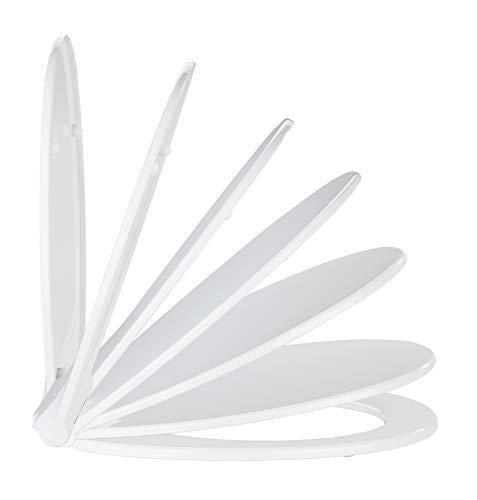 WENKO Abattant Kos Aroma - Abattant WC avec système d'abaissement automatique et cartouche de parfum intégrée pour la fraîcheur et la propreté, Thermoplastique, 37 x 44 cm, Blanc