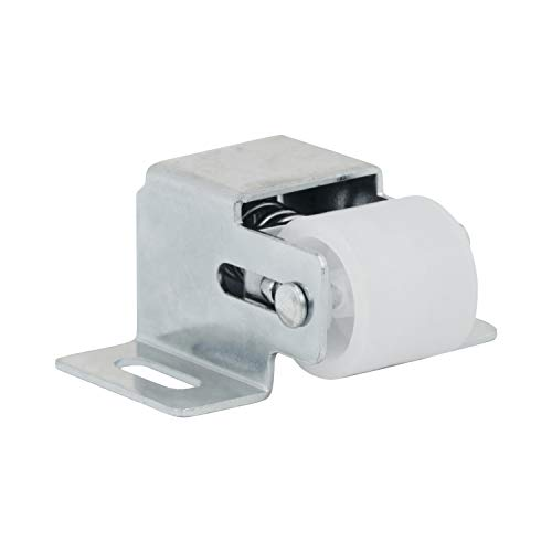5 Pack Rok Hardware Heavy Duty Large Roller Catch Latch for Closet Doors and Cabinets, Zinc
