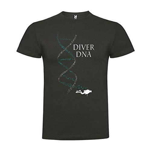 Camiseta Buceo Diver DNA Manga Corta Hombre Plomo L