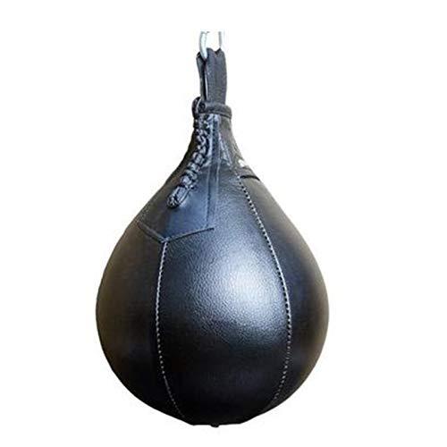 Gvqng Bola Velocidad Boxeo, Bolsa Boxeo Independiente para Entrenamiento Deportivo Colgante, Boxeo, Entrenamiento Intervalos, Artes Marciales, Velocidad Entrenamiento,Black b