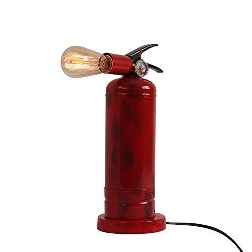 PElight Retro Brandblusser tafellamp, industriële creatieve tafellamp, ijzeren lampbehuizing, E27 roterende lampfitting, gebruikt voor slaapkamer, woonkamer, decoratie